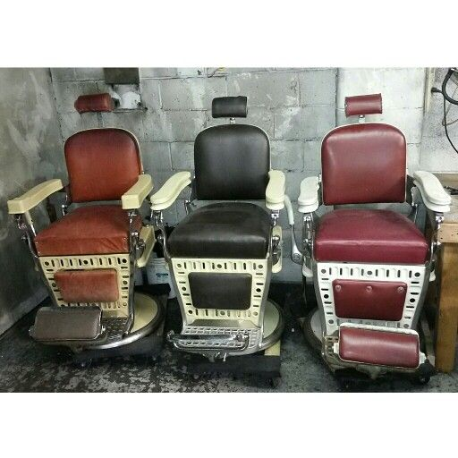 AVAILABLE FOR RESTORATION $$$AVAIL CHAIRS$$$$$ :-) Antique barber chair  restoration Metal finishes nickel and chrome plating, sand blasting, ... - 287 Best Antique Barber Chairs Images On Pinterest Barber