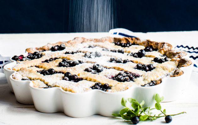 Helppo mustikkapiirakka / Blueberry pie / Kotiliesi.fi / Kuva/Photo: Riikka Hurri/Otavamedia