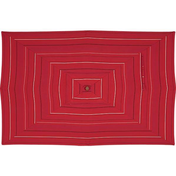 Rectangular Sunbrella® Tonal Red Stripe Umbrella Cover In Umbrella Covers.  Outdoor Sofa ...
