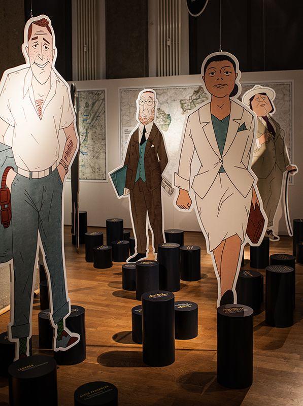 »Erfolg. Lion Feuchtwangers Bayern« Eine Ausstellung im Literaturhaus München (15.10. bis 15.2.2015) +++++ In der Ausstellung: Illustrationen von Dirk Schmidt (Foto: © Juliana Krohn)