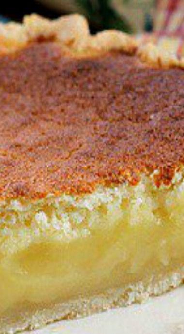 Lemon Sponge Pie ~ An easy pie to make with perfect lemon flavor