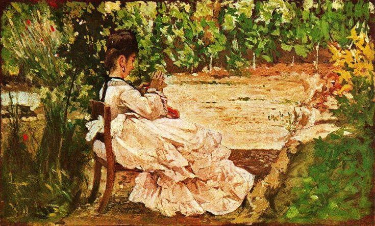Women in the Garden ~ Giovanni Fattori ~ (Italian: 1825-1908)