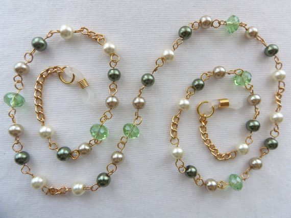 Eyeglass Chain - Crystals - Pearls