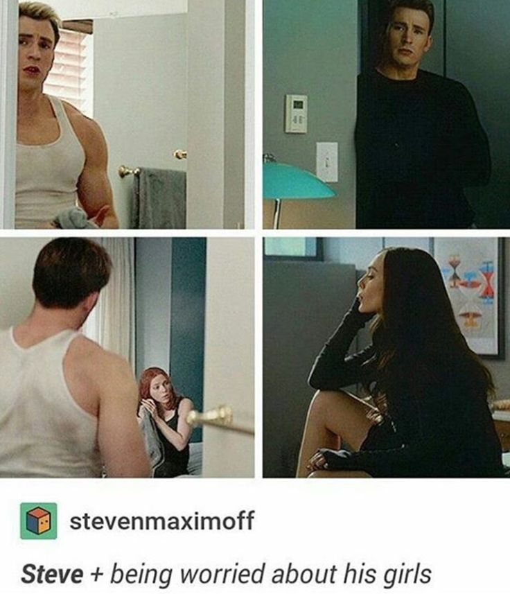 Steve being worried about his girls. Bless him <--awww the same way Nat has to keep her boys in line :)