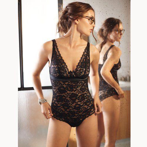 Darjeeling – Body Hypnotic – Femme – Noir – M: Tweet Body noir en dentelle florale très raffinée. On craque pour son look prêt-à porter…