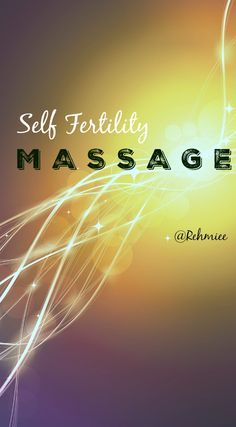 How Self Fertility Massage Works ?  Before you can understand HOW self fertility massage works, you have to understand the female reproductive anatomy.