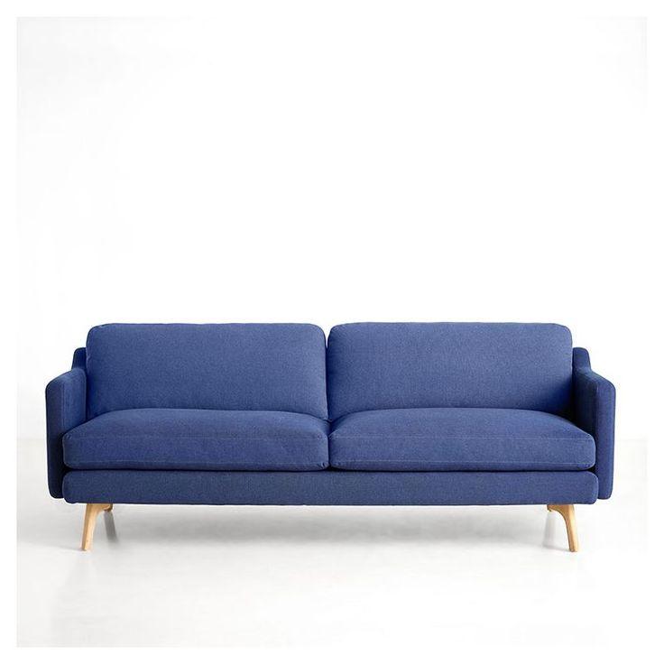 Canapé 3 pl. bleu nuit DON Woud