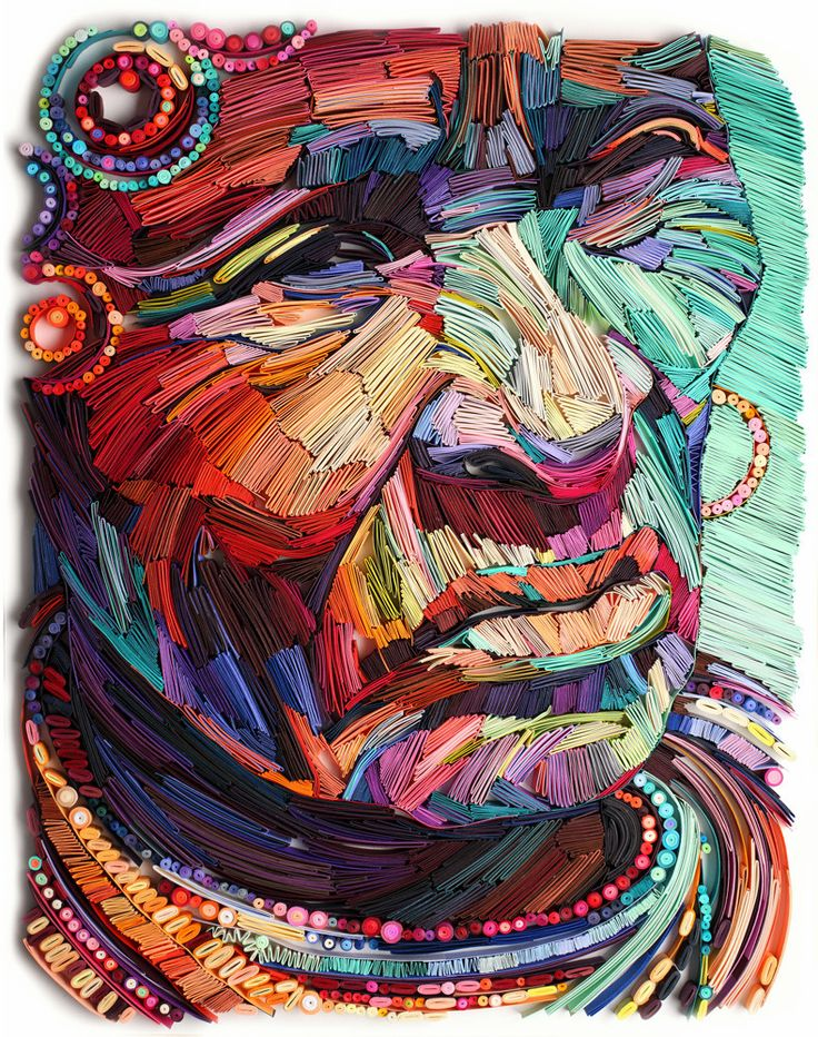 New Multicolor Quilled Paper Portraits by Yulia Brodskaya