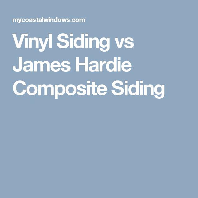 Vinyl Siding vs James Hardie Composite Siding