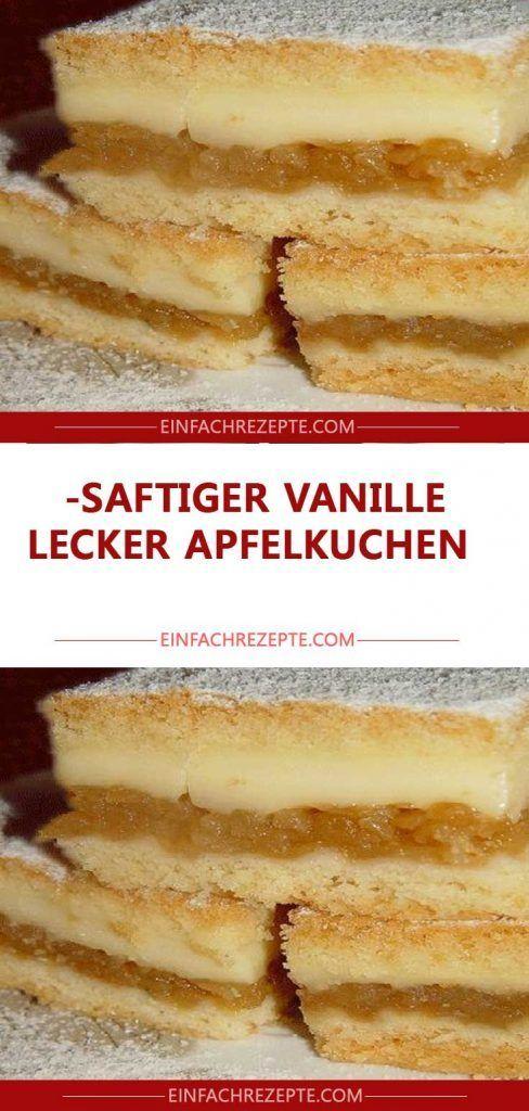 Saftiger Vanille- lecker Apfelkuchen 😍 😍 😍 – Schokokuchen ohne zucker