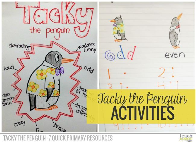 Tacky the Penguin – 7 Quick Primary Resources