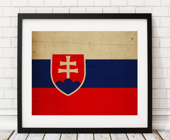 Slovakia Flag Art- https://www.etsy.com/listing/481711458/slovakia-flag-art-slovakia-flag-print?ref=shop_home_active_8 - Slovakia Flag Print, Flag Poster, Gift Idea