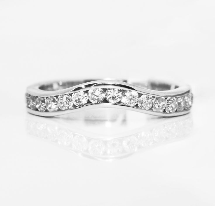 Shaped Diamond Wedding Ring Custom Commission In 950 Platinum With Channel Set Diamonds