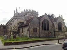Basingstoke -St Michaels Church . Where is was christened as a baby :)