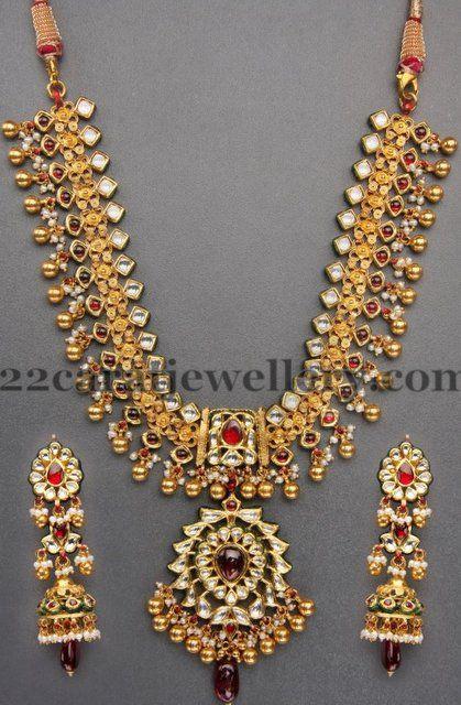 Trendy Kundan Tussi Necklace   Jewellery Designs