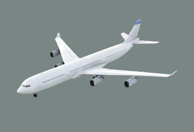 Boeing A340 Air Plane 3D Model