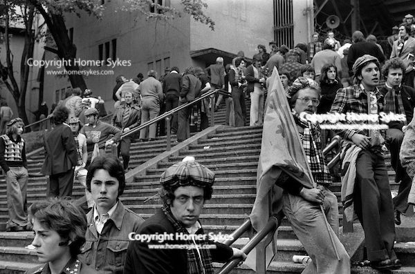 1970s Scottish football fans at England Scotland Football ...