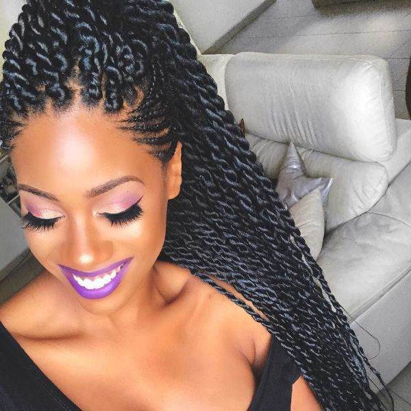 STYLECASTER   Protective Hairstyles to Try   Senegalese Twists