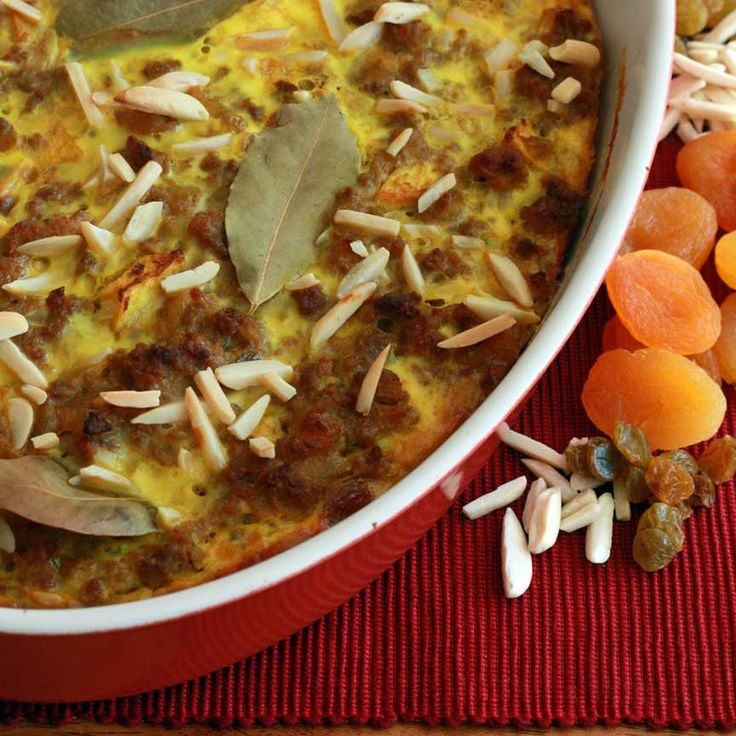 Bobotie (South African Meatloaf Casserole) - The Daring Gourmet