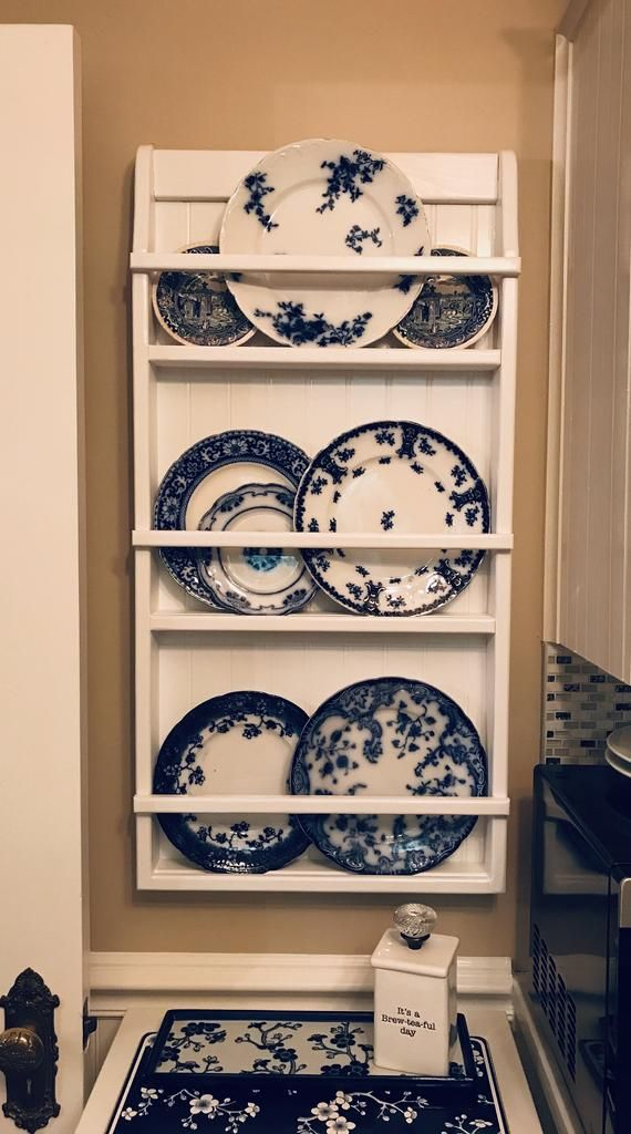 Wall Hanging Plate Rack Shelf Small Wall Bookshelf Or Etsy Plate Rack Wall Wall Bookshelves Hanging Bookshelves
