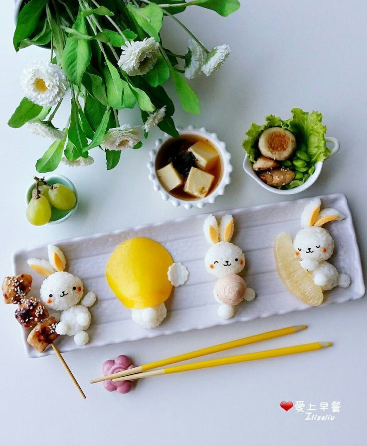 Bunny sushi art by ilisaliu (@ilisa_liu)