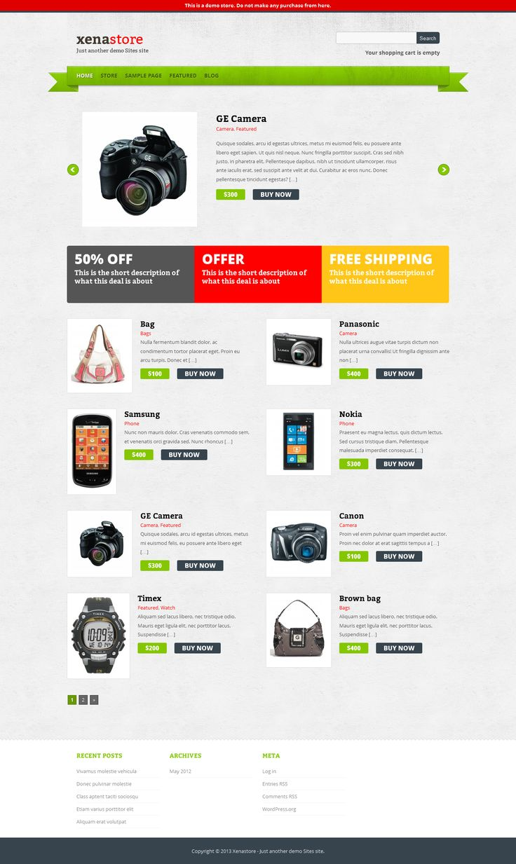 22 best free theme ecommerce images on pinterest wordpress xenastore is an ecommerce wordpress theme this theme depends on an ecommerce plugin called cart66 pronofoot35fo Images