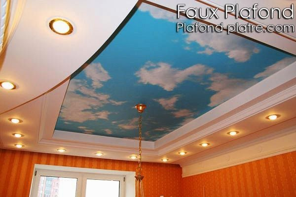 17 best images about faux plafond on pinterest coiffures for Plafond suspendu lumineux
