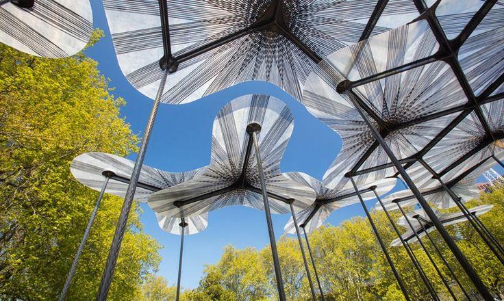 Amanda Levete's immersive flower-like MPavilion just opened in Melbourne's Queen Victoria Gardens