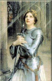 Saint of the Day – 30 May – St Joan of Arc – Virgin (6 January 1412 at Greux-Domremy, Lorraine, France – burned alive on 30 May 1431 at Rouen, France) – Beatified 11 April 1905 by Pope Saint Pius X, Canonised on 16 May 1920 by Pope Benedict XV. Patron of France; martyrs; captives; military personnel; people ridiculed for their piety; prisoners; soldiers; opposition of Church authorities; WACs (Women's Army Corps); WAVES (Women Appointed for Voluntary Emergency Service). Attributes – bar