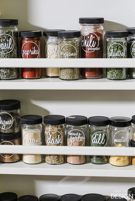 Download free spice jar labels for your die-cut machine. Silhouette files for labeling spice jars.