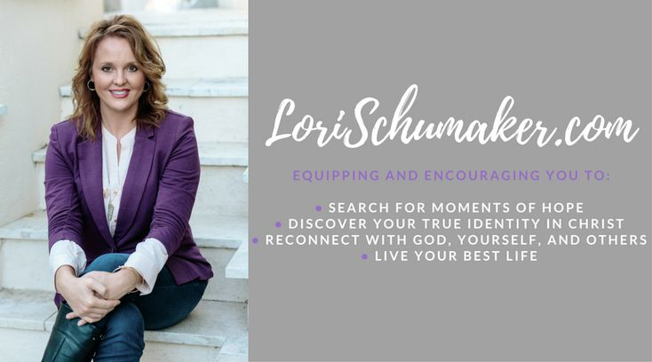 As a speaker, writer, and certified Christian Life Coach, Lori loves to witness the freedom women experience when they begin to see themselves as a beautiful reflection of the One who created them.Armed with a life story, Master's Degree and Life Coaching Certificate, and the Word of God,she points to the hope of Jesus