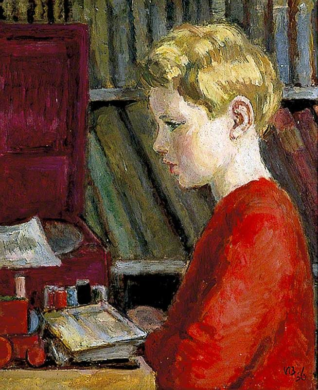Julian Bell by Vanessa Bell Date painted: c.1956 Oil on canvas, 45.5 x 38 cm Collection: Charleston