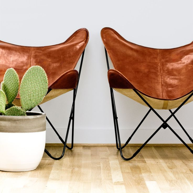 leather butterfly chairs