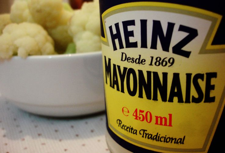 Couve flor + maionese Heinz!