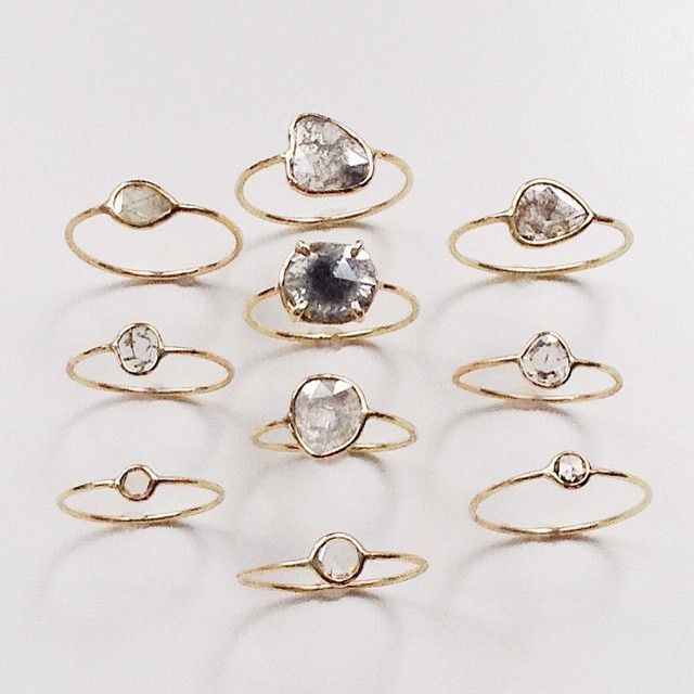 Vale Jewelry - An Array of Diamond Slice Rings