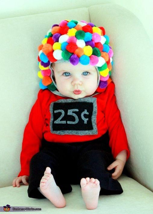 Tyggegummimaskine DIY easy costume gum ball machine baby