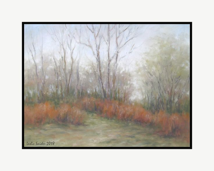 Path to the beach - pastel - Leslie Snider