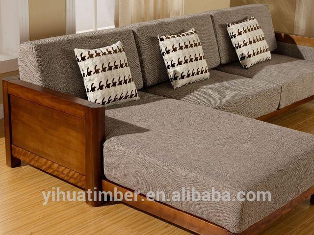 Source Latest design wooden sofa furniture Living Room Sofas on m