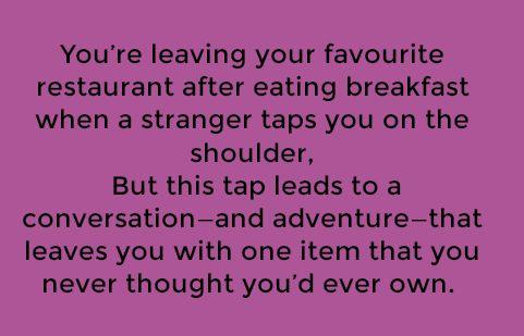 A tap on the shoulder. (PROMPTUARIUM » writing prompt)