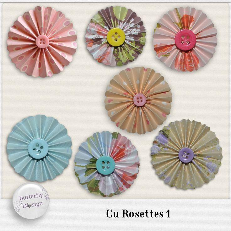 Digital Art :: Element Packs :: CU Rosettes 1 by butterflyDsign