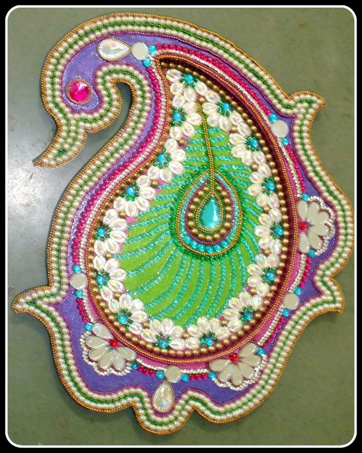 1000 images about puja thalis on pinterest stains for Aarti thali decoration with kundan