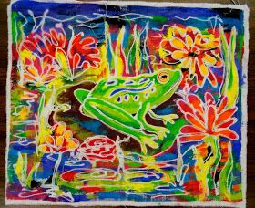 There's a Dragon in my Art Room: The wonderful magic of toothpaste batik
