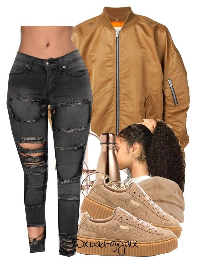 """壞女孩"" by xbad-gyalx ❤ liked on Polyvore featuring S'well, Juicy Couture, Puma and Humble Chic"