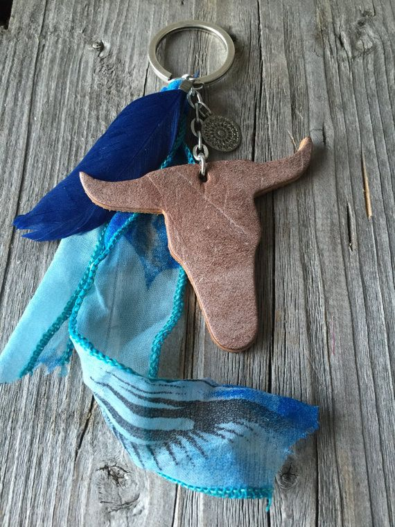 bags pendant bulls head keychain leather bulls door KennlyDesign