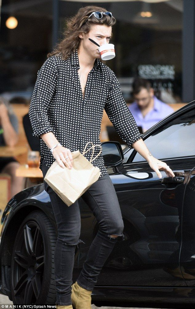 It's the Little Things: Harry Styles stopped by artisan icecream store Salt & Straw in Los...