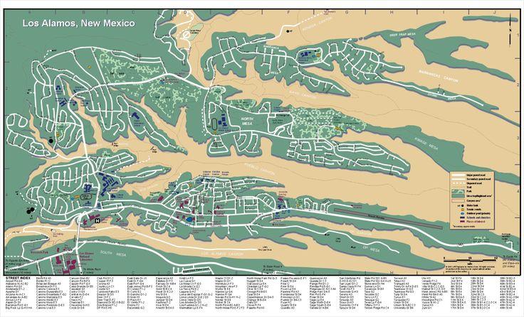 Los Alamos New Mexico City Map -