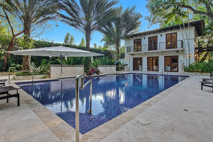 While sitting poolside at Villa Dwora, you can enjoy the sun deck, lounge area, outdoor shower, outdoor dining areas, covered patios & more!  #SupremeAuction #LuxuryAuction #Miami #CoralGables #MiamiMansion #MiamiRealEstate #Florida #FloridaRealEstate #ResortStyle #Auction #KoiPond #MediterraneanMansion