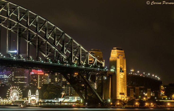 Harbour bridge during the night. https://www.facebook.com/pages/Carina-Parnow-Photography/733136943415778