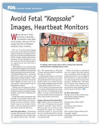 """Avoid Fetal """"Keepsake"""" Images, Heartbeat Monitors - get as much research info as you can before making decisions about procedures and medications routinely given during pregnancy and labor!!! make INFORMED decisions"""