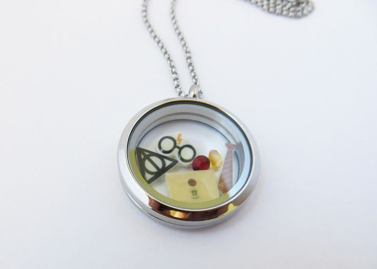 Harry Potter Inspired Floating Locket by geekilicious on Etsy https://www.etsy.com/listing/217565552/harry-potter-inspired-floating-locket